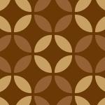 ブラウンの七宝柄パターン