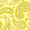 黄色基調のペイズリー柄パターン