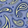 紺色基調のペイズリー柄パターン