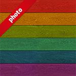 虹色に着色した木目・板材の写真加工パターン