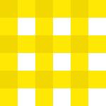 黄色のギンガムチェック柄パターン