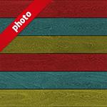 3色のカラフルな木材写真加工パターン