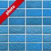 綺麗に整列した青いレンガの写真加工パターン