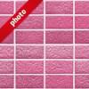 綺麗に整列したピック色のレンガの写真加工パターン