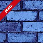 ゴツゴツしたブルーのレンガブロック写真加工パターン