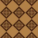 茶色のアジアン調の模様が入ったハーリキンチェックパターン