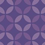 紫基調の和柄七宝模様パターン