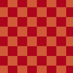赤い市松模様パターン