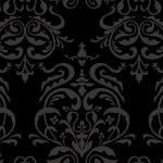 黒色のダマスク柄パターン