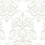 白色のダマスク柄パターン