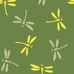 勝ち虫・とんぼの緑色和柄パターン