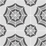 灰色の蜘蛛の巣のような幾何学模様パターン