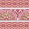 ピンク色基調のエスニック風パターン