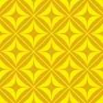 黄色の正方形とダイア形パターン