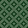 緑色の正方形とダイア形パターン