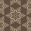 茶色の雪の結晶イラスト幾何学パターン