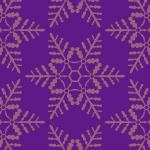 紫色の雪の結晶イラスト幾何学パターン