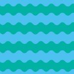 うねうねした青系統色のボーダーパターン