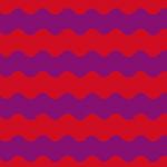 赤と紫色のうねうねしたボーダーパターン