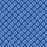 青色の鹿の子柄パターン