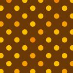 茶色と黄色のドット柄パターン