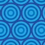 青いサークルが並ぶパターン