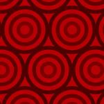 赤いサークルが並ぶパターン
