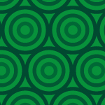 緑色のサークルが並ぶパターン