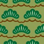 松のイラストが並ぶパターン