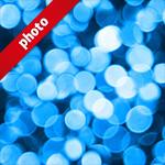 青くボヤケて光る写真加工パターン