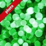 緑色にボヤケて光る写真加工パターン