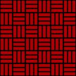 赤と黒の網代文様 和柄パターン