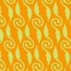 オレンジ色の植物モチーフイラストパターン