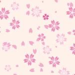 薄っすらピンクの桜のイラストパターン