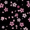 黒背景の桜のイラストパターン