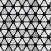 白黒の角丸三角形が並ぶパターン