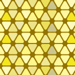 黄色の角丸三角形が並ぶパターン