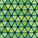 緑色の角丸三角形が並ぶパターン