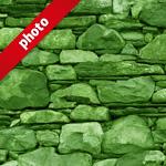 緑色の石ブロックのパターン