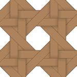 茶色のバスケット編み柄パターン