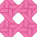 ピンク色のバスケット編み柄パターン