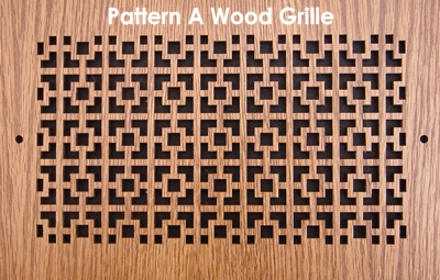 wood vent grille pattern