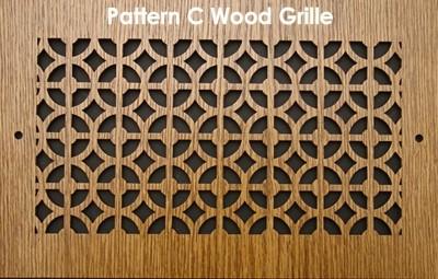 wood air vent grilles