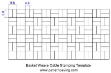 Stamped Asphalt Cable Templates