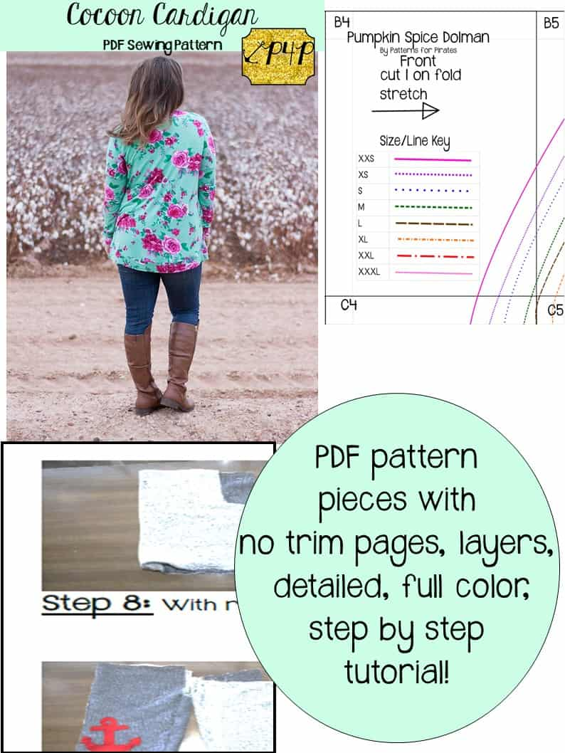 Cocoon Cardigan - Patterns for Pirates