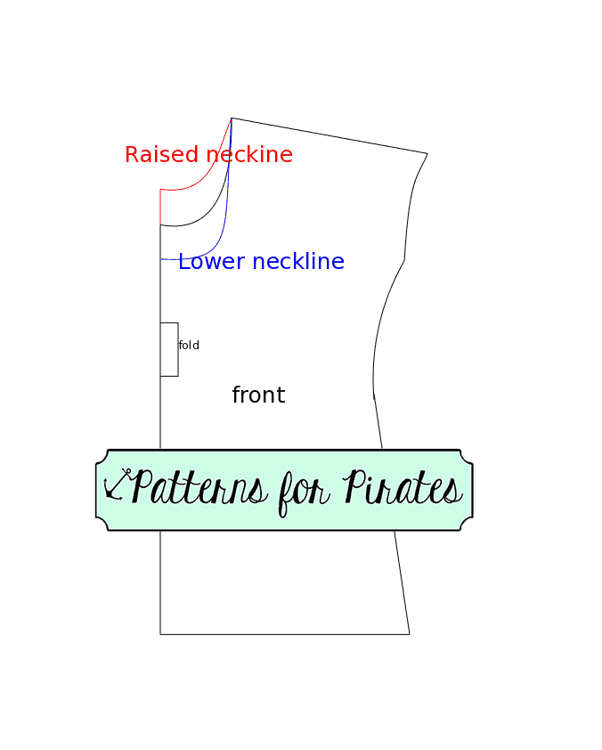 How to lower or raise a neckline