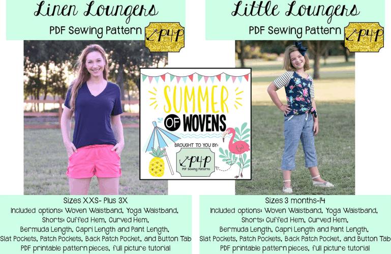Linen Loungers :: New Pattern Release!