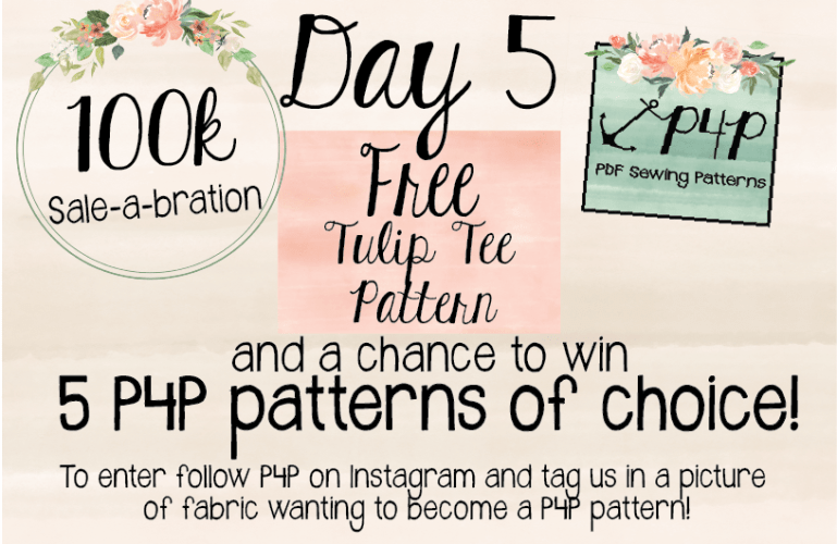 FREE Tulip Tee Pattern + 100k Sale-A-Bration Day 5!