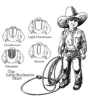 Patterns of Time Little Buckaroo Shirts Pattern, Children