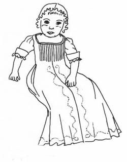 Patterns of Time Infant Gown with Shirt and Petticoat
